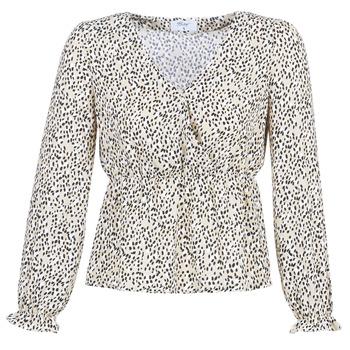 textil Mujer Tops / Blusas Betty London LOVA Beige / Negro