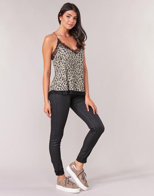 Luz Slim Vaqueros Replay Textil Mujer Negro wnO80PkX