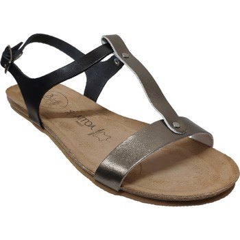 Zapatos Mujer Sandalias Amoa Sanary Cuero negro