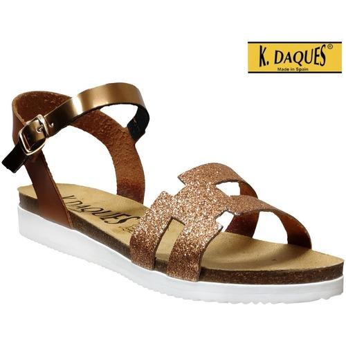 Zapatos Mujer Sandalias K. Daques Delta Castaño