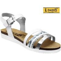 Zapatos Mujer Sandalias K. Daques Denia Blanco, Blanca