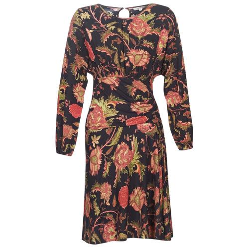 Derhy BANQUISE Negro / Multicolor - Envío gratis | ! - textil vestidos cortos Mujer