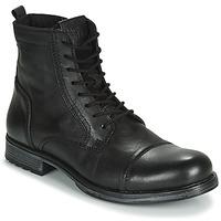 Zapatos Hombre Botas de caña baja Jack & Jones JFW RUSSEL LEATHER Negro