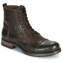 Zapatos Hombre Botas de caña baja Jack & Jones JFW RUSSEL LEATHER Marrón