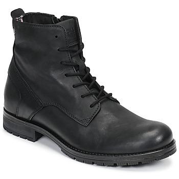 Zapatos Hombre Botas de caña baja Jack & Jones JFW ORCA LEATHER Negro