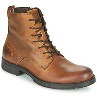 Zapatos Hombre Botas de caña baja Jack & Jones JFW ORCA LEATHER Cognac