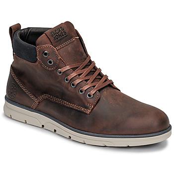 Zapatos Hombre Botas de caña baja Jack & Jones JFW TUBAR LEATHER Marrón