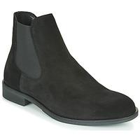 Zapatos Hombre Botas de caña baja Selected LOUIS SUEDE CHELSEA Negro