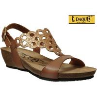 Zapatos Mujer Sandalias K. Daques Elo Castaño