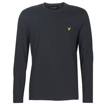 textil Hombre Camisetas manga larga Lyle & Scott TS512V-574 Negro
