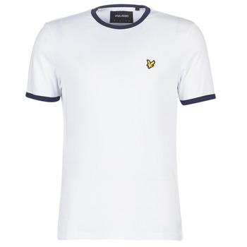 textil Hombre camisetas manga corta Lyle & Scott TS705V-Z660 Blanco
