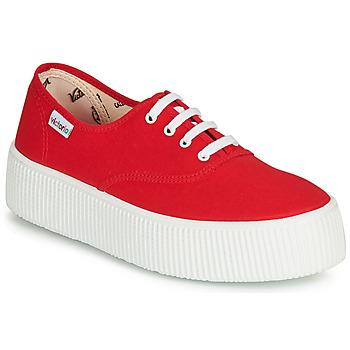 Zapatos Mujer Zapatillas bajas Victoria 1915 DOBLE LONA Rojo
