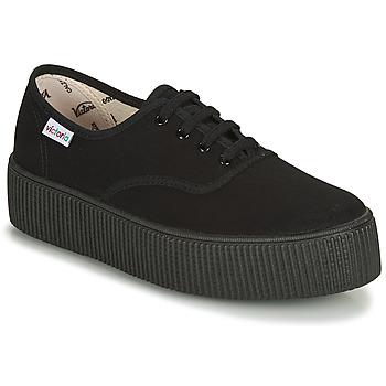 Zapatos Mujer Zapatillas bajas Victoria 1915 DOBLE LONA PISO NEG Negro