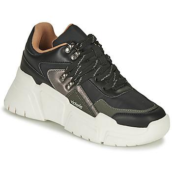 Zapatos Mujer Zapatillas bajas Victoria TOTEM NYLON Negro