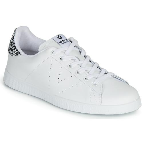 Zapatos Mujer Zapatillas bajas Victoria TENIS PIEL Blanco