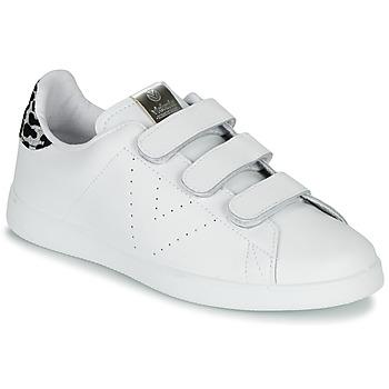 Zapatos Mujer Zapatillas bajas Victoria TENIS VELCRO PIEL Blanco