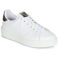 Zapatos Mujer Zapatillas bajas Victoria UTOPIA RELIEVE PIEL Blanco