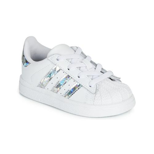 adidas Originals SUPERSTAR EL I Blanco / Plata - Envío gratis | ! - Zapatos Deportivas bajas Nino