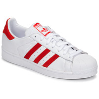 Zapatos Zapatillas bajas adidas Originals SUPERSTAR Blanco / Rojo