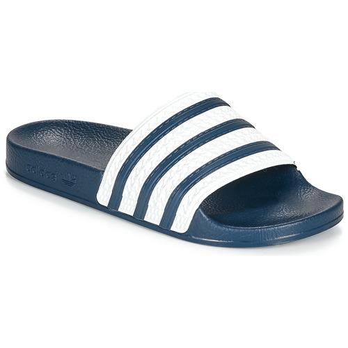 adidas Originals ADILETTE Azul / Blanco - Envío gratis | ! - Zapatos Chanclas