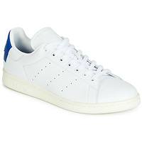 Zapatos Zapatillas bajas adidas Originals STAN SMITH Blanco / Azul / Carré
