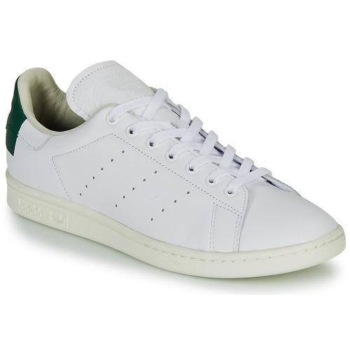 Zapatos Zapatillas bajas adidas Originals STAN SMITH Blanco / Verde