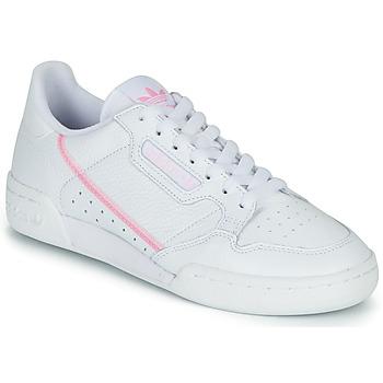 Zapatos Mujer Zapatillas bajas adidas Originals CONTINENTAL 80 W Blanco / Rosa