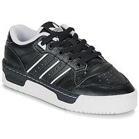 Zapatos Niños Zapatillas bajas adidas Originals RIVALRY LOW J Negro