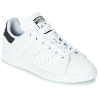 Zapatos Niños Zapatillas bajas adidas Originals STAN SMITH J Blanco / Negro