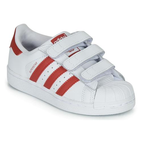 adidas Originals SUPERSTAR CF C Blanco / Rojo - Envío gratis | ! - Zapatos Deportivas bajas Nino