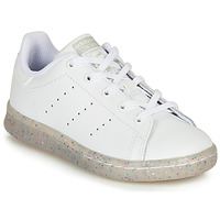 Zapatos Niña Zapatillas bajas adidas Originals STAN SMITH C Blanco / Glitter