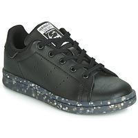 Zapatos Niños Zapatillas bajas adidas Originals STAN SMITH C Negro