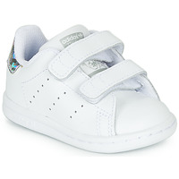 Zapatos Niña Zapatillas bajas adidas Originals STAN SMITH CF I Blanco / Plateado