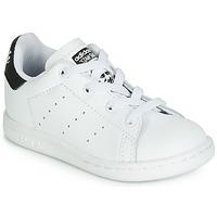 Zapatos Niños Zapatillas bajas adidas Originals STAN SMITH EL I Blanco / Negro