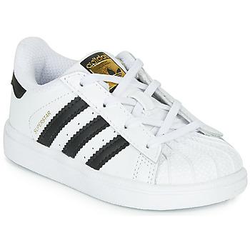Zapatos Niños Zapatillas bajas adidas Originals SUPERSTAR I Blanco / Negro