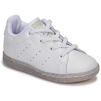 Zapatos Niña Zapatillas bajas adidas Originals STAN SMITH EL I Blanco / Glitter