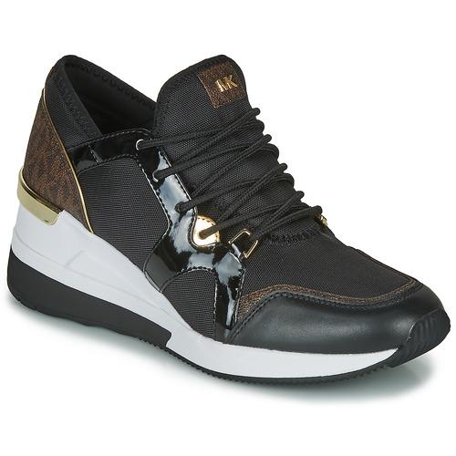 Zapatos Mujer Zapatillas bajas MICHAEL Michael Kors LIV TRAINER Negro / Marrón