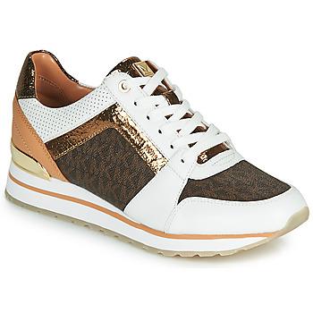 Zapatos Mujer Zapatillas bajas MICHAEL Michael Kors BILLIE TRAINER Blanco / Marrón