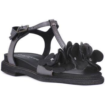 Zapatos Mujer Sandalias Sono Italiana NERO LAMINATO Nero