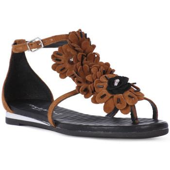 Zapatos Mujer Sandalias Fluchos SONO ITALIANA CROSTA CUIO Nero