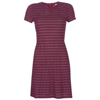 textil Mujer vestidos cortos MICHAEL Michael Kors EMBELL FLARE MINI DRS Burdeo