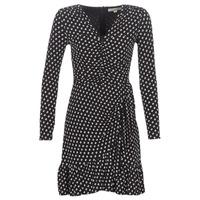 textil Mujer vestidos cortos MICHAEL Michael Kors ELV DOT SHRD LS DRS Negro