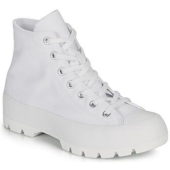 Zapatos Mujer Zapatillas altas Converse CHUCK TAYLOR ALL STAR LUGGED BASIC CANVAS Blanco