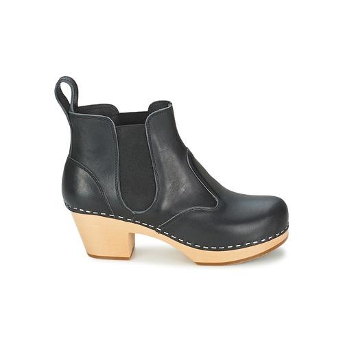 Chelsea Swedish Zapatos Mujer Negro Botines Hasbeens IYfvbgy76