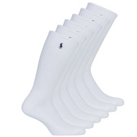 Accesorios Hombre Calcetines Polo Ralph Lauren ASX110 6PK CR PP-CREW-6 PACK Blanco