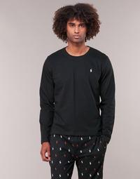 textil Hombre Camisetas manga larga Polo Ralph Lauren L/S CREW-CREW-SLEEP TOP Negro
