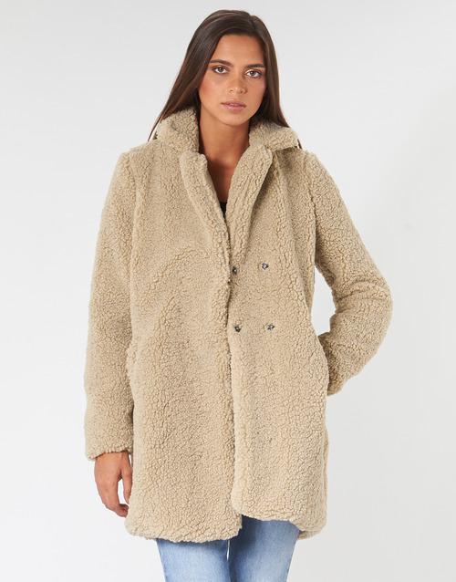 textil Mujer Abrigos Noisy May NMGABI Beige