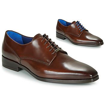 Zapatos Hombre Derbie Azzaro POIVRE Marrón