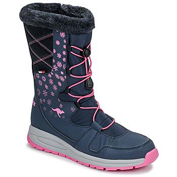 Zapatos Mujer Botas de nieve Kangaroos K-GLAZE RTX Marino / Rosa
