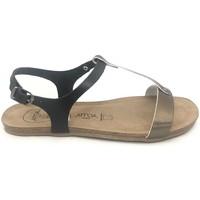 Zapatos Mujer Sandalias Amoa sandales SANARY Noir/Aciero Negro